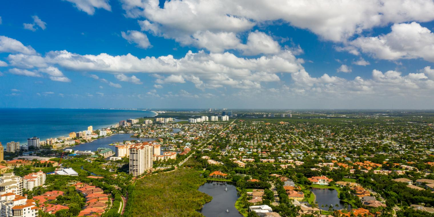 An aerial view of Collier County