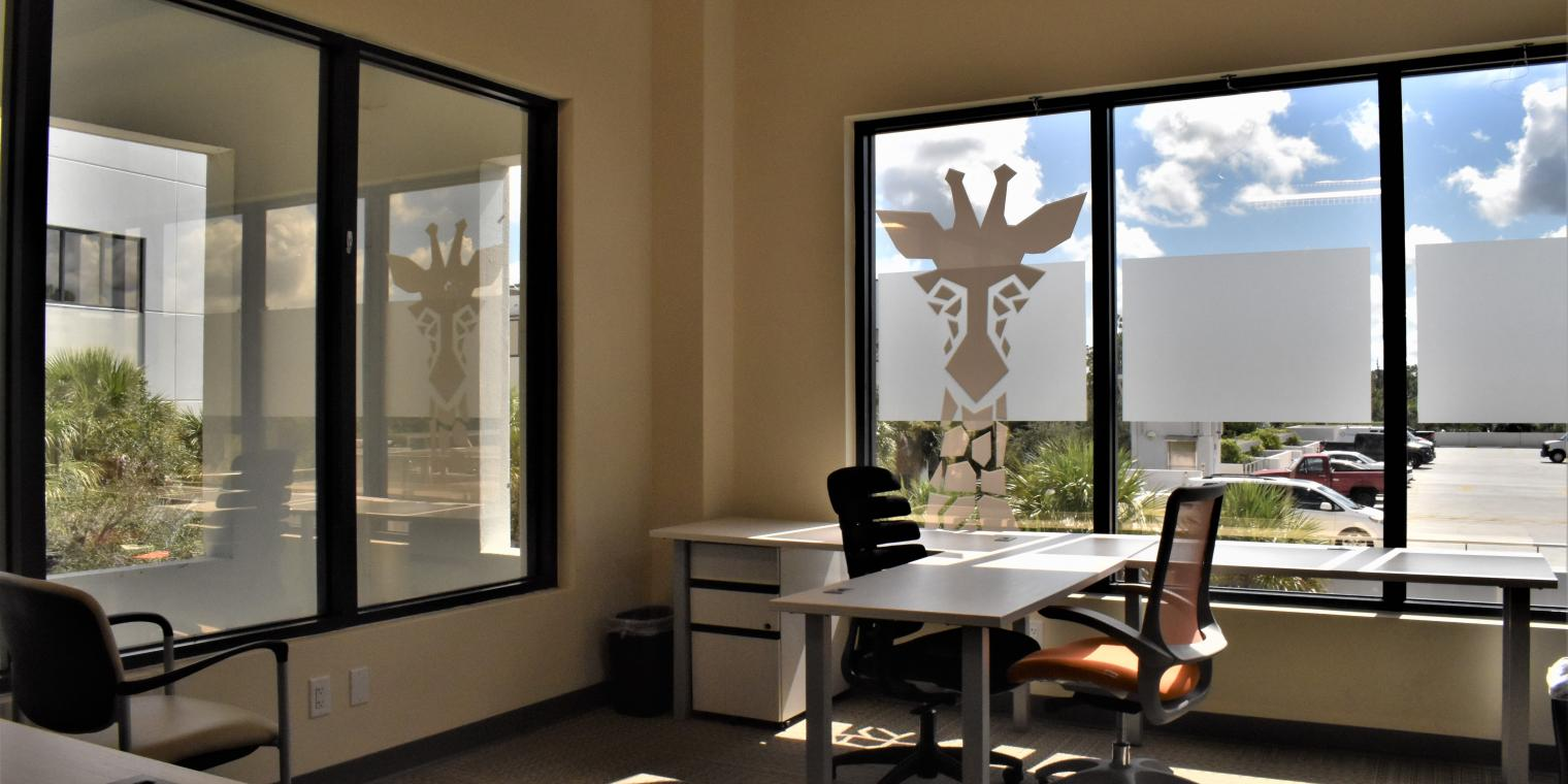Image of an interior office space at the Naples Accelerator