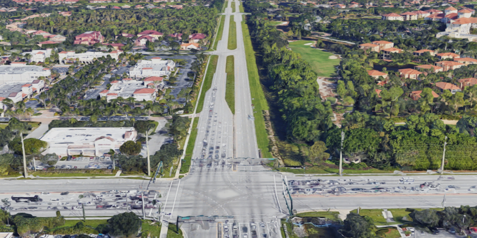 Aerial view of Airport Road Intersection