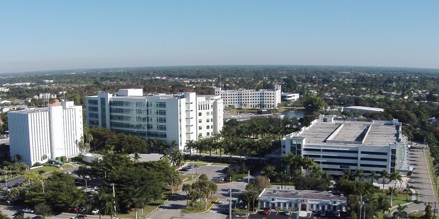 Aerial view of Collier County Government Complex